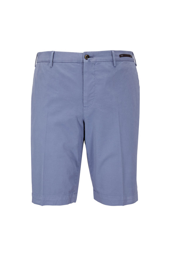 PT Torino Light Blue Stretch Twill Shorts