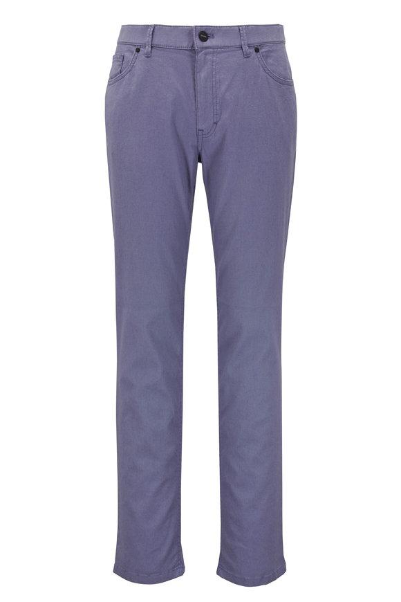 Hiltl Seth Slate Linen & Cotton Five Pocket Pant