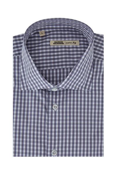 Maurizio Baldassari - Gray Gingham Sport Shirt