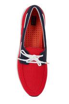 Swims - Breeze Red Alert & Navy Mesh Boat Shoe