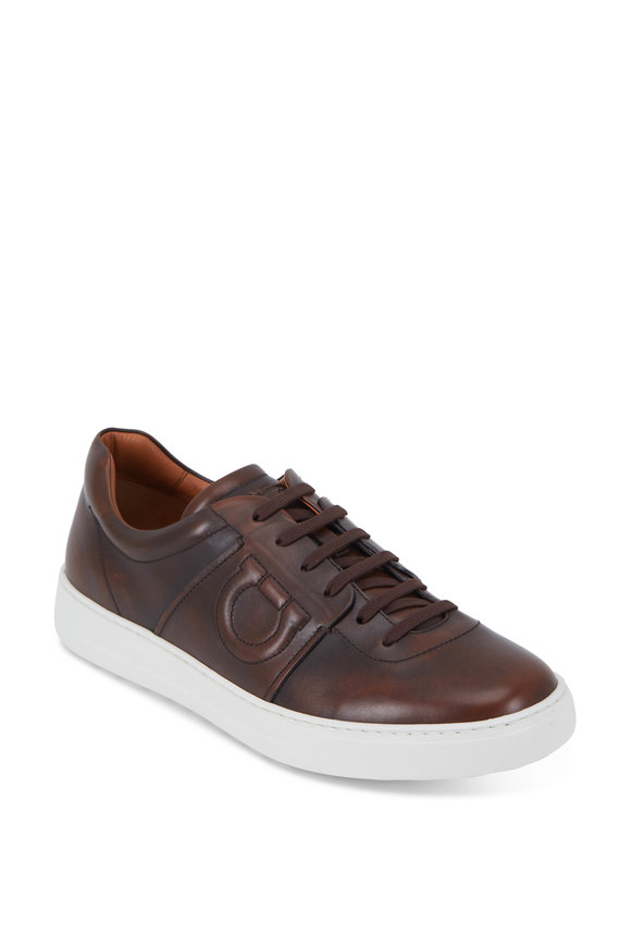 Salvatore Ferragamo Cult-6 Habana Leather Gancini Sneaker