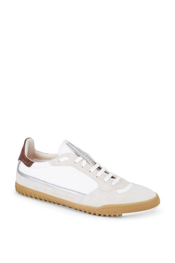 Berluti California White & Beige Suede & Nylon Sneaker