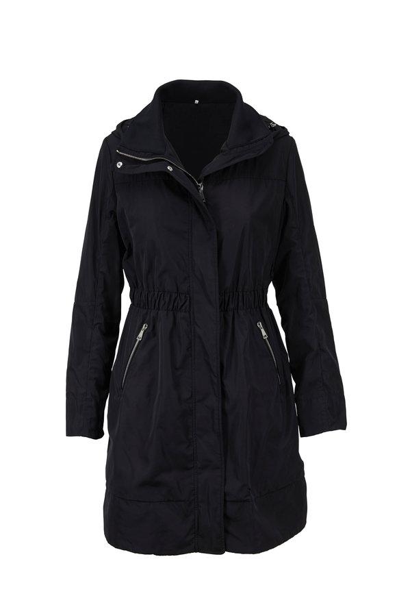 Moncler Disthelon Black Hooded Rain Coat