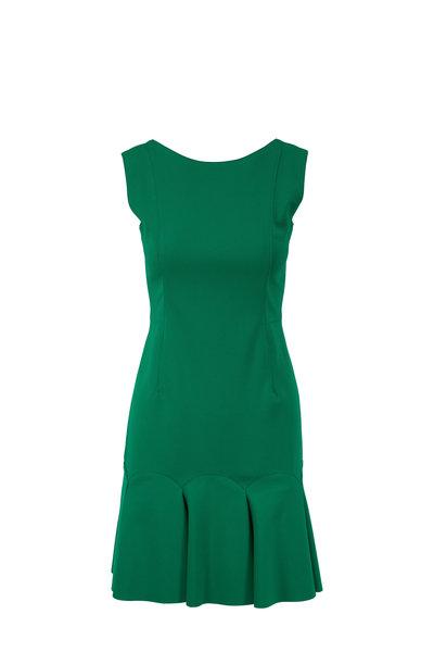 Akris Punto - Green Flounce Hem Sleeveless Dress