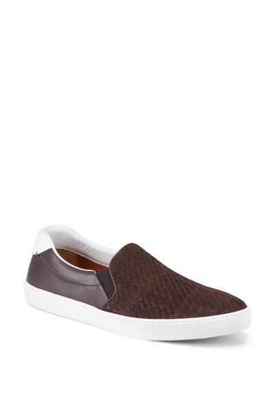 Ermenegildo Zegna - Leonardo Woven Leather Slip-On Sneakers