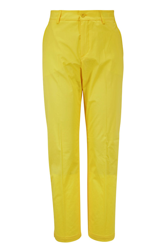 Bogner Abbie Bright Yellow Stretch Cotton Pant