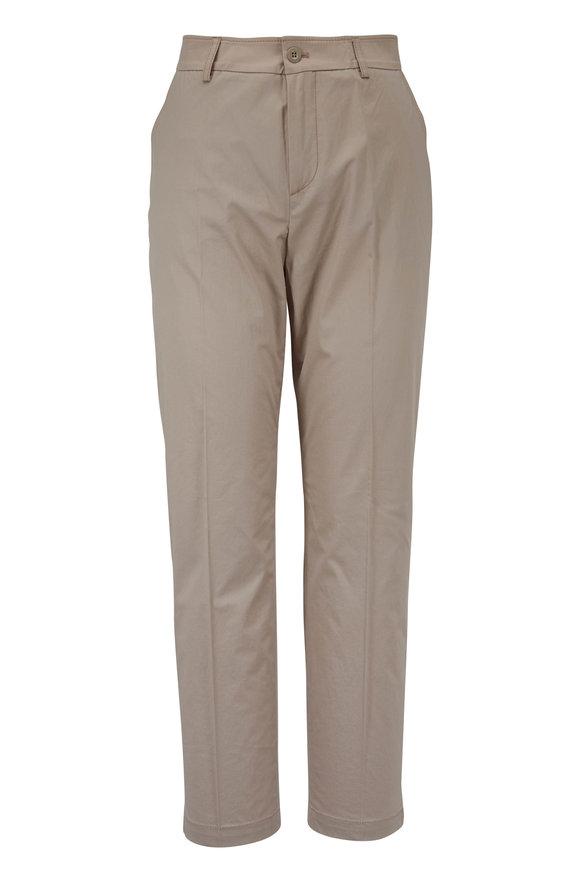 Bogner Abbie Khaki Stretch Cotton Pant