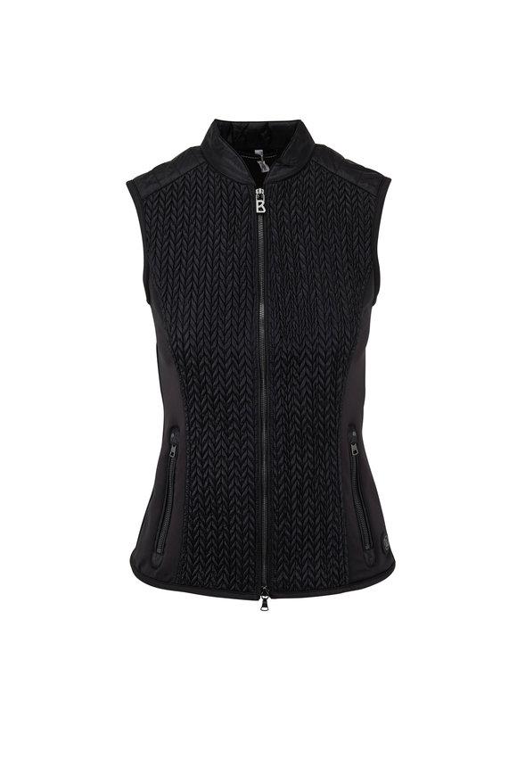Bogner Norini Black Textured Nylon Vest