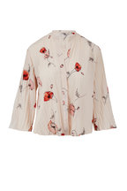 Vince - Pale Blush Tossed Poppy Pleated Blouse