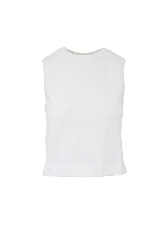 Vince White Cotton Tank
