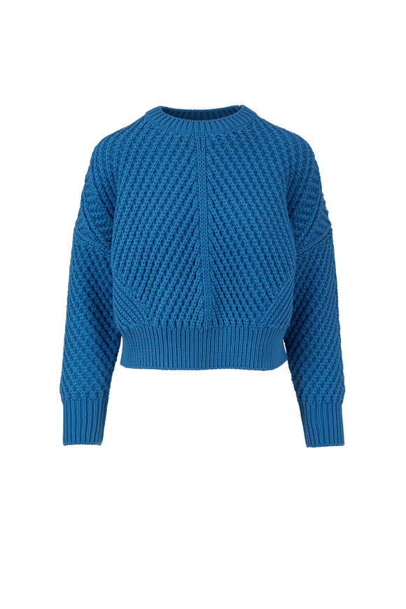 Vince Blue Pumice Chunky Knit Sweater