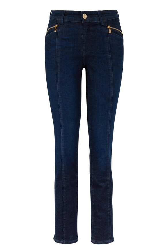 Bogner Greta Dark Denim Pocket-Zip Jean