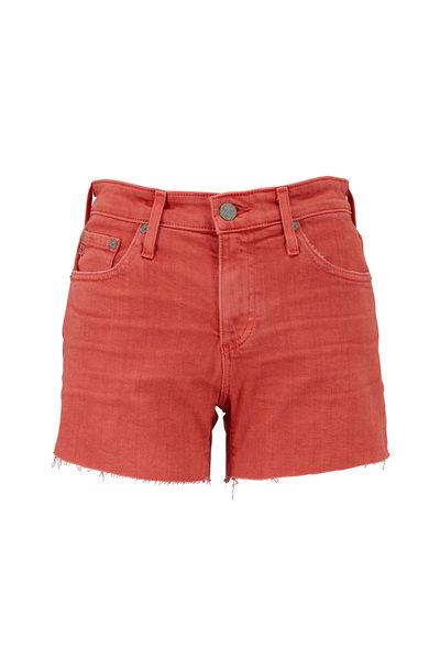 AG - Hailey Red Cut-Off Ex-Boyfriend Shorts