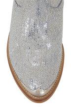 Golden Goose - Young Silver Glitter Paillette Western Short Boot