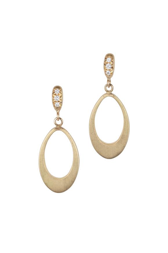 Caroline Ellen 20K Yellow Gold Mini Doorknocker Earrings