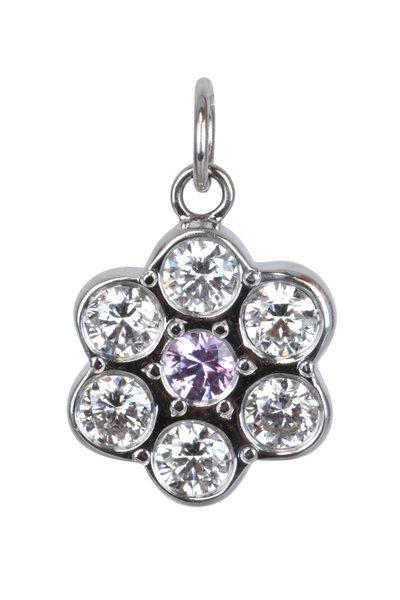 Julez Bryant - 14K White Gold Purple Sapphire Flower Pendant