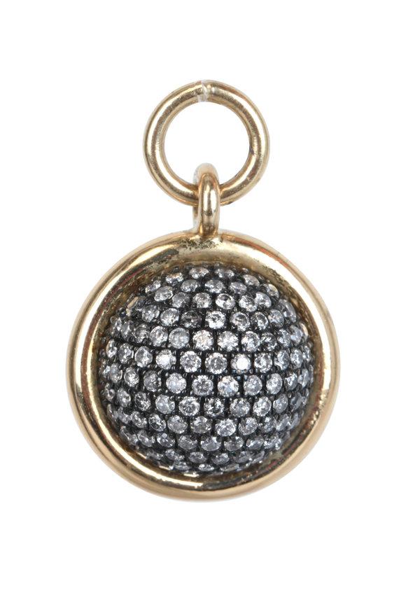 Spinelli Kilcollin Gold & Silver Galina Pavé Pendant
