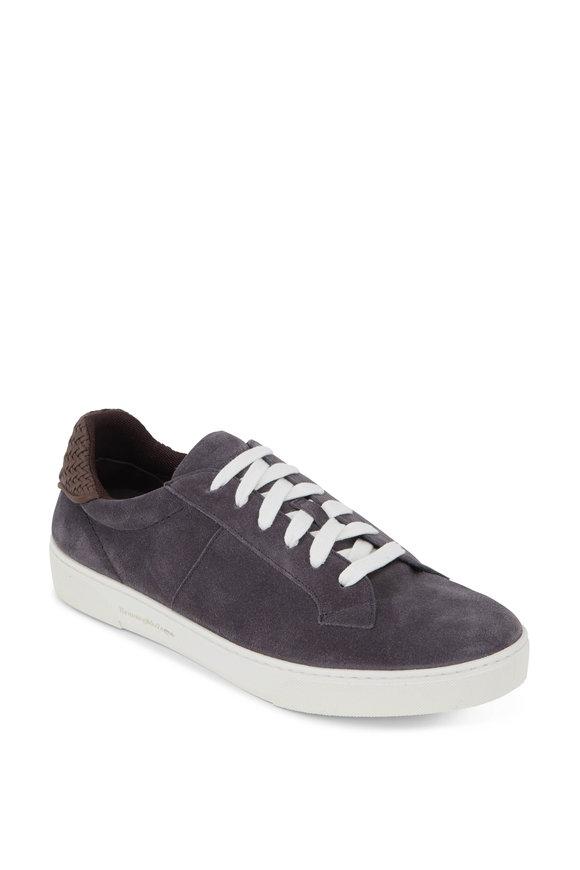 Ermenegildo Zegna Medium Gray Suede Low-Top Sneaker