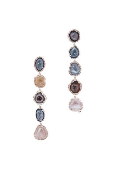 Kai Linz - 14K Rose Gold Geode Drop Earrings