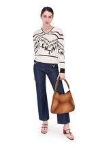 Valentino - Logo Chevron Wool & Cashmere Sweater