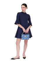 Valentino - Navy Blue Crêpe Couture Bell Sleeve Dress