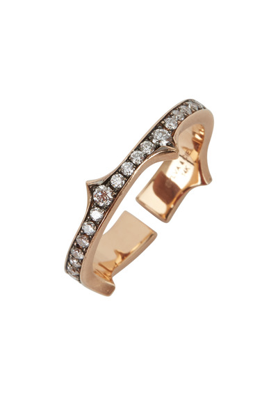 Sylva & Cie - 14K Rose Gold Diamond Split Thorn Band