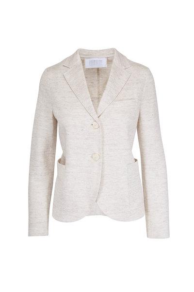 Harris Wharf - White Linen Boyfriend Jacket