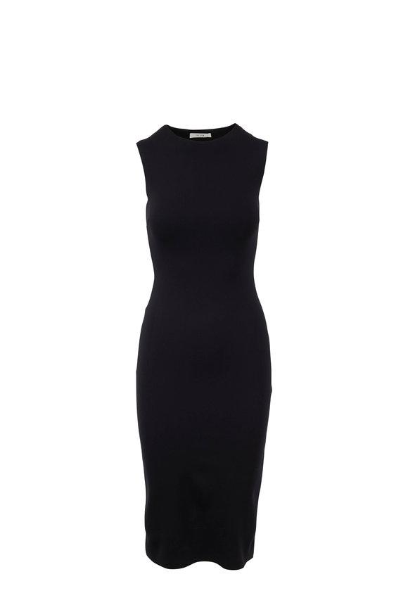 The Row Devi Black Cady Tube Dress