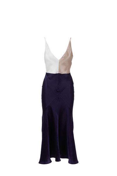 Gabriela Hearst - Bridget Color-Block Sleeveless Maxi Dress