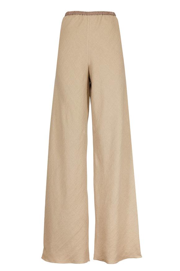Peter Cohen Khaki Linen Wide Leg Pant