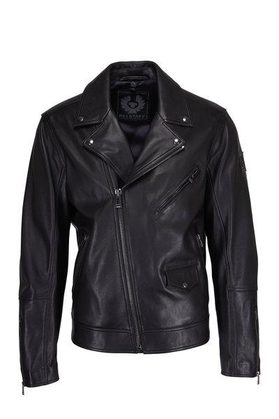Belstaff - Fenway Black Leather Asymmetric Jacket