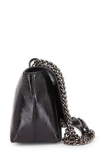 Akris - Anouk Black Crinkle Patent Leather Shoulder Bag