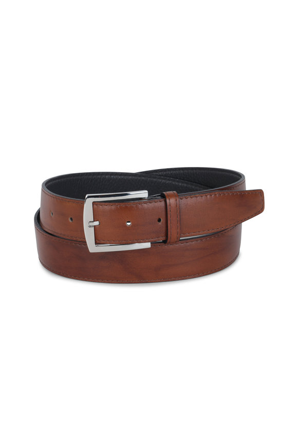 Kiton Light Brown Leather Belt