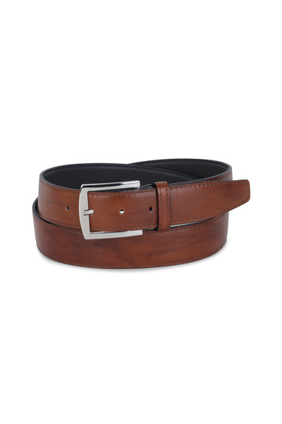 Kiton - Light Brown Leather Belt