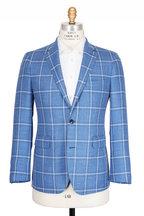 Atelier Munro - Bright Blue Windowpane Wool Sportcoat