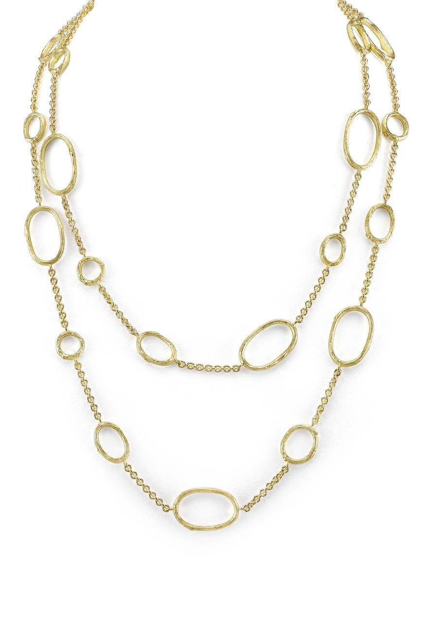 Long White Gold Sapphire Diarondell Origin Necklace