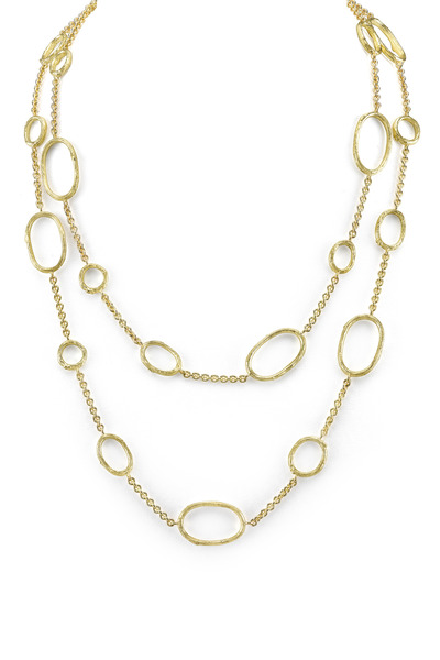 Kathleen Dughi - Long White Gold Sapphire Diarondell Origin Necklace