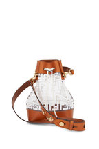 Fendi - Mon Tresor White Logo PVC Large Bucket Bag