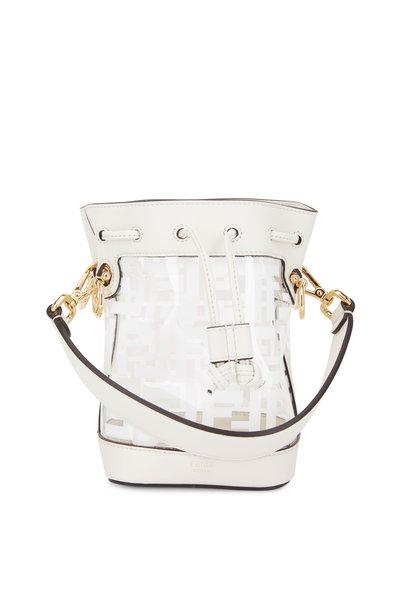 Fendi - Mon Tresor White Logo PVC Mini Bucket Bag