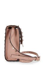 Valentino Garavani - Rockstud Rose Pebbled Leather Shoulder Bag