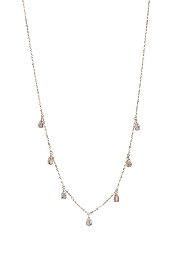 Kai Linz 18K Rose Gold Diamond Drop Necklace