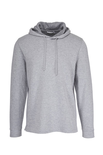 Vince - Heather Gray Double Knit Hoodie
