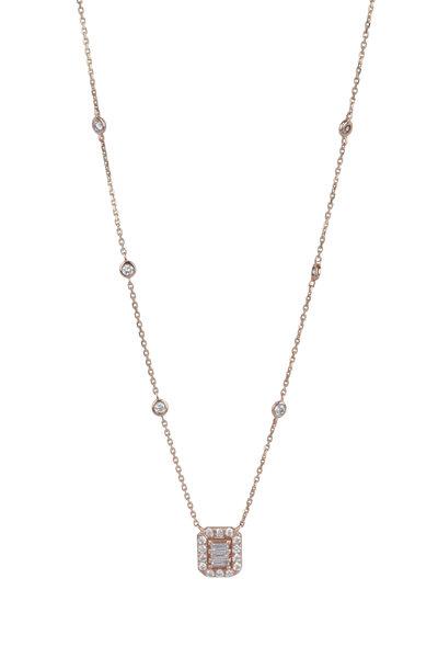 Kai Linz - 18K Rose Gold Diamond Pendant Necklace