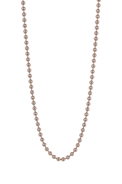 Julez Bryant - 14K Rose Gold Ball Chain Necklace, 3.0mm