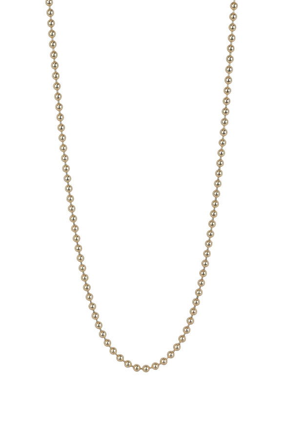 Julez Bryant 14K Yellow Gold Ball Chain Necklace, 3.0mm