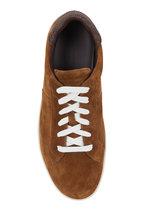 Ermenegildo Zegna - Dark Beige Suede Low-Top Sneaker