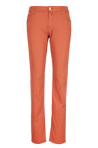 Jacob Cohen - Red Washed Straight Leg Jean