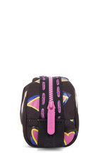 LeSportsac - Black With Pink Hearts Nylon Mini Makeup Case