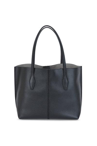Tod's - Joy Black Pebbled Leather Medium Shoulder Bag