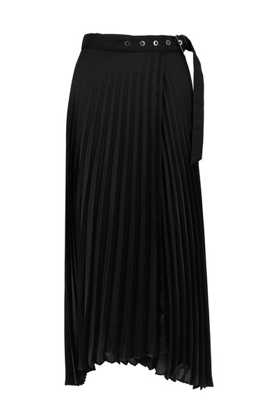 Brunello Cucinelli - Black Pleated Belted Skirt